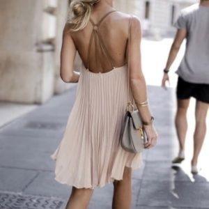 BCBGMaxAzria Cayanne Pleated Sleeveless Dress XXS